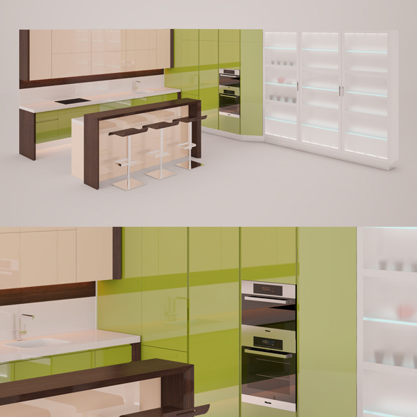 3DOcean Kitchen Set 6418646