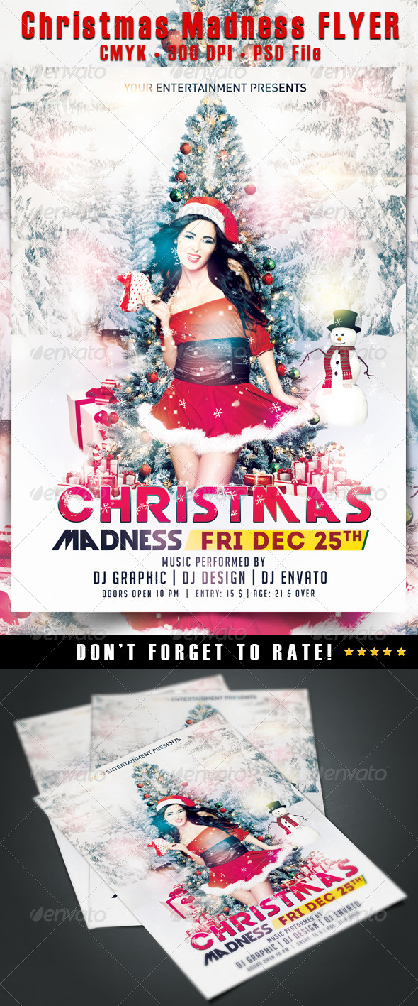 GraphicRiver Christmas Madness Flyer 6418665