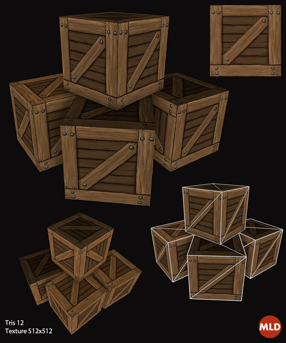 Low Poly Box - 3DOcean Item for Sale