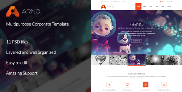 ThemeForest Arno Multipurpose Corporate Template 6419046