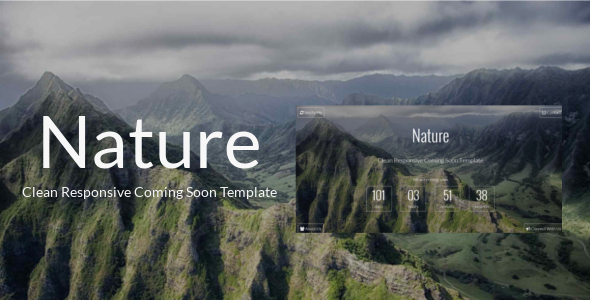 Nature - Clean Responsive Coming Soon Template