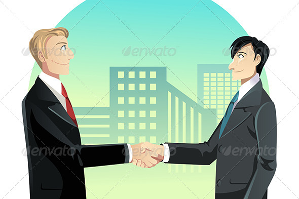 GraphicRiver Businessmen Shaking Hands 6419417