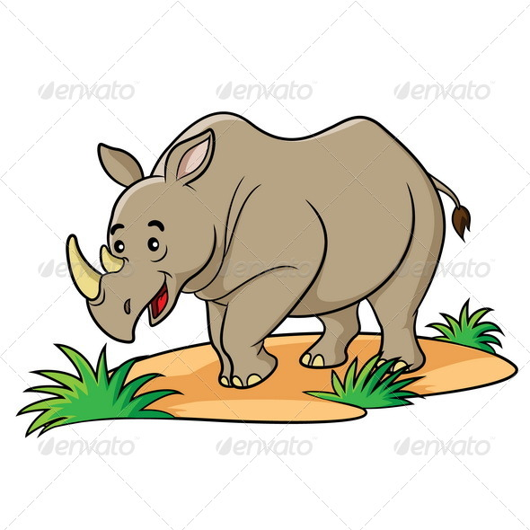 GraphicRiver Rhino Cartoon 6419430