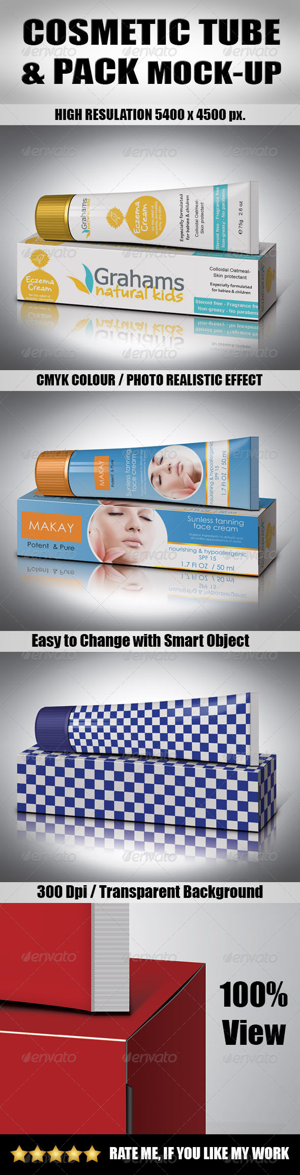GraphicRiver Cosmetic Tube & Pack Mock-Up 6401174
