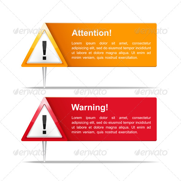 GraphicRiver Attention and Warning Banners 6419675