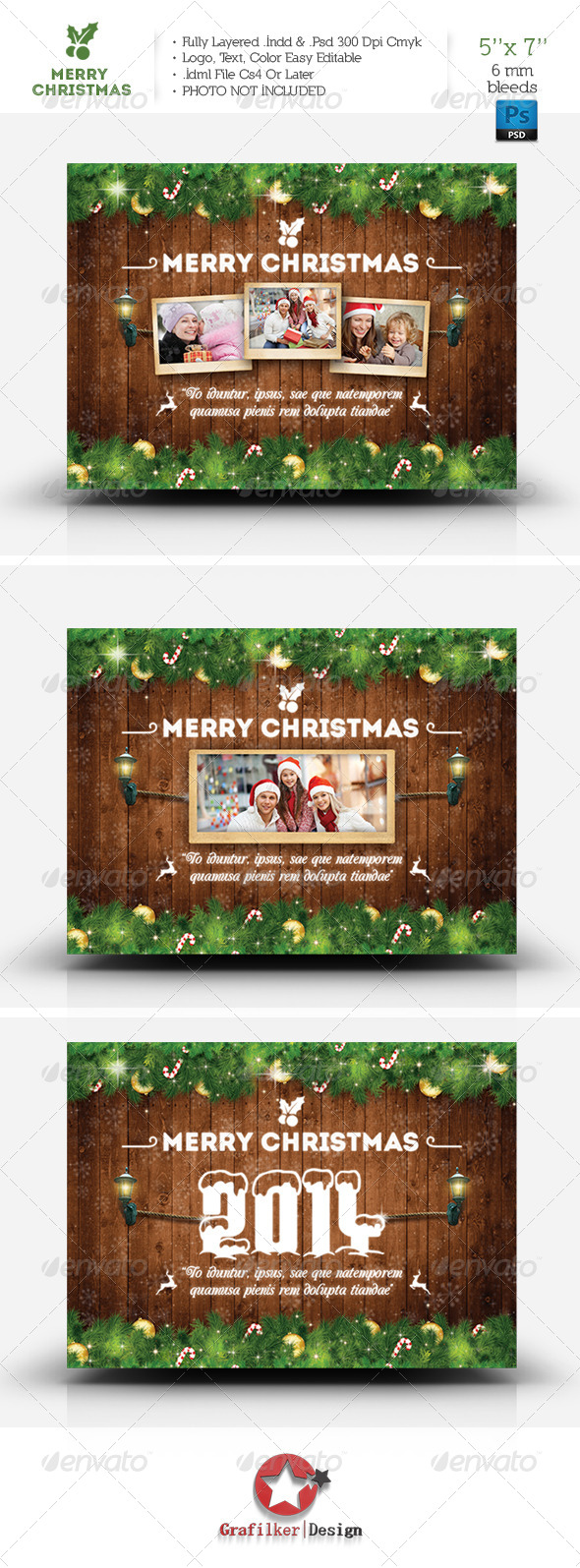 GraphicRiver Christmas Postcard Template 6419812