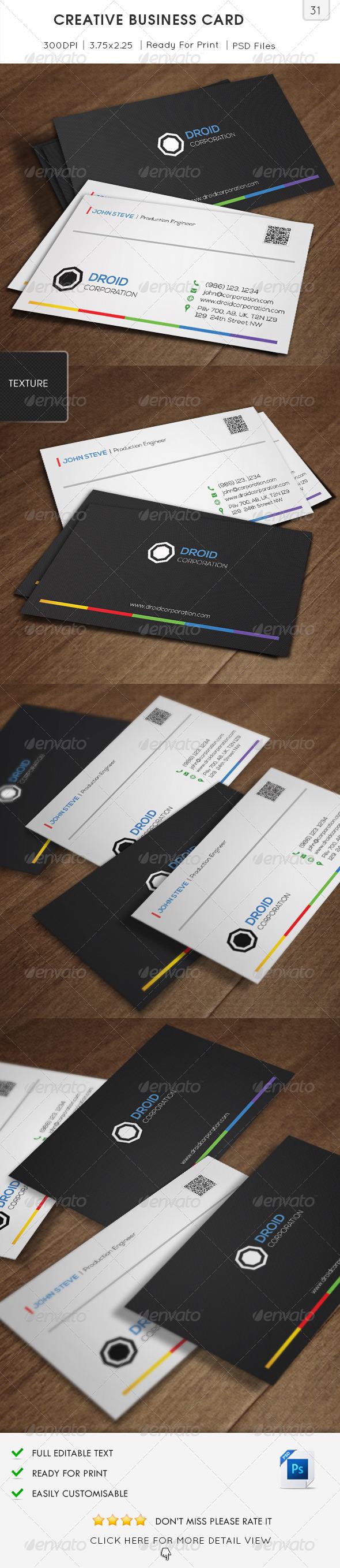 GraphicRiver Creative Business Card v31 6420406