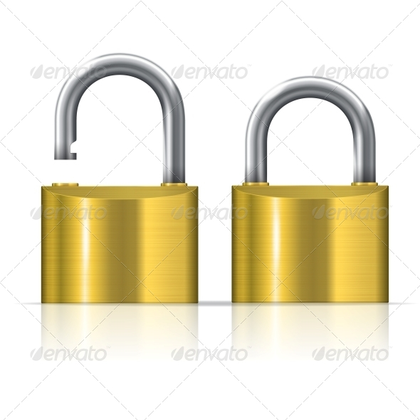GraphicRiver Open and Closed Padlocks 6420423