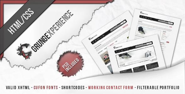 ThemeForest Grungexperience Premium HTML Template 537427