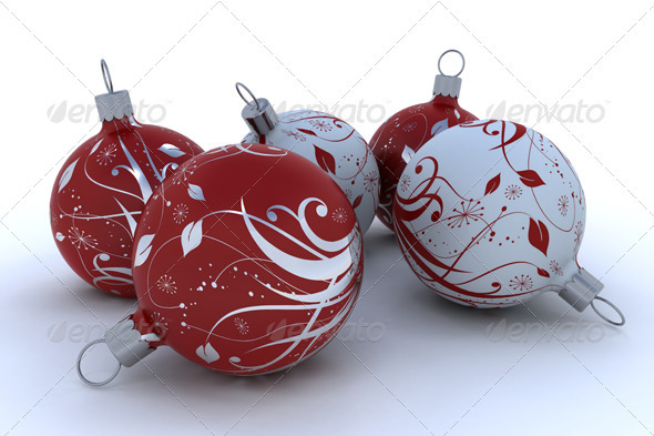 Christmas Balls - 3D Backgrounds