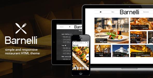 ThemeForest Barnelli Restaurant HTML5 Responsive Template 6395582