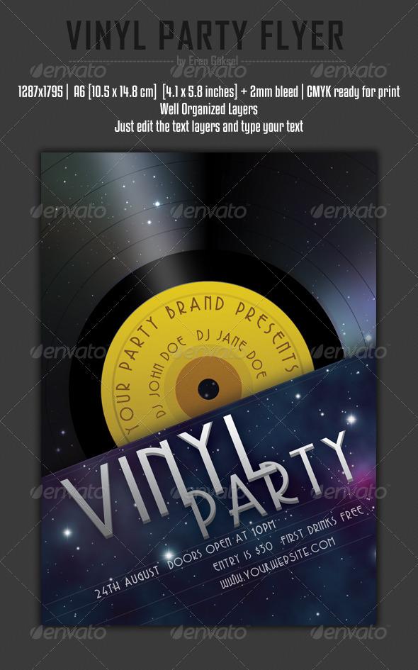 Vinyl Party Flyer