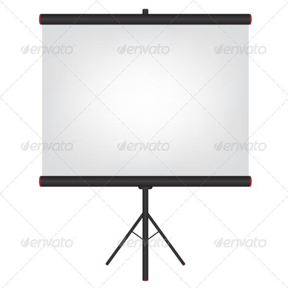 GraphicRiver Projector Screen Black Illustration 6420512