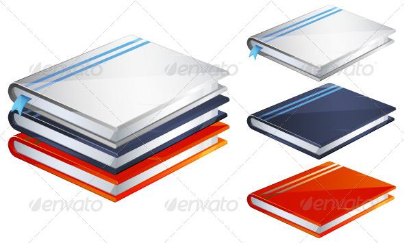 GraphicRiver Set of Books Illustration 6420518
