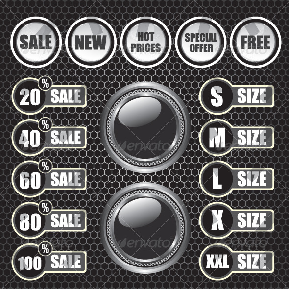 GraphicRiver Sale Label on Metal Octagon Background 6420522