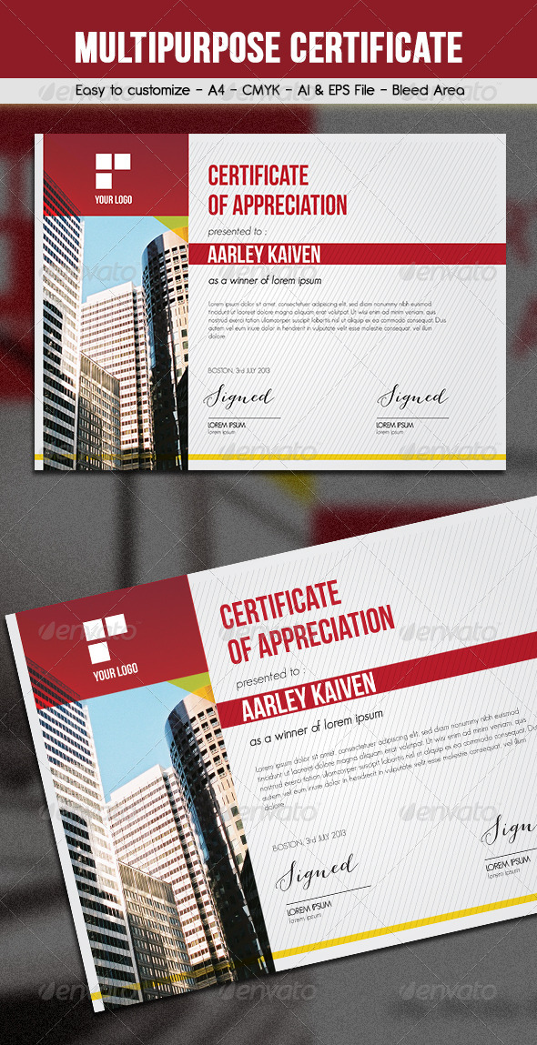 GraphicRiver Multipurpose Certificates 6374324