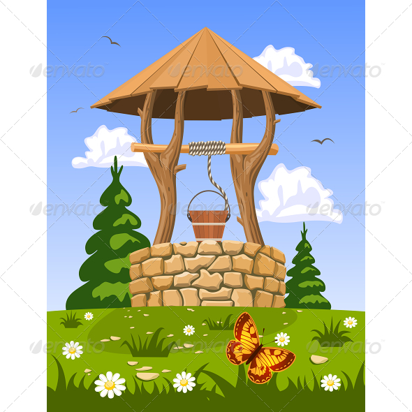 GraphicRiver Well of Fresh Natural Water 6420833