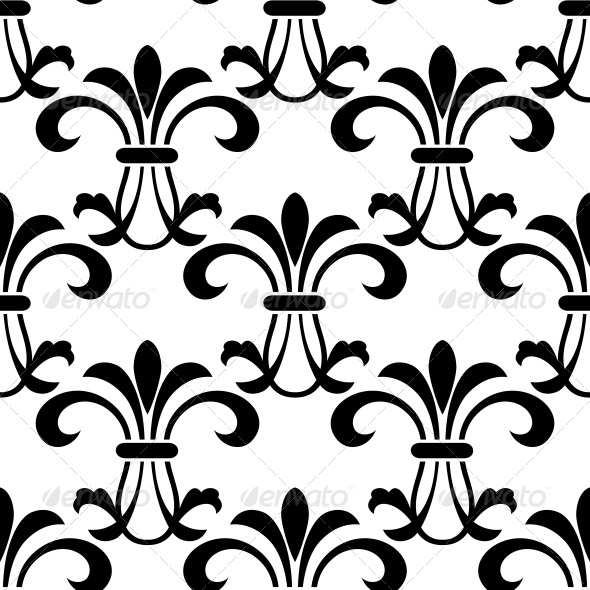 GraphicRiver Seamless Pattern with Decorative Floral Elements 6420891