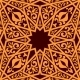 Arabic Seamless Pattern with Geometric Elements
