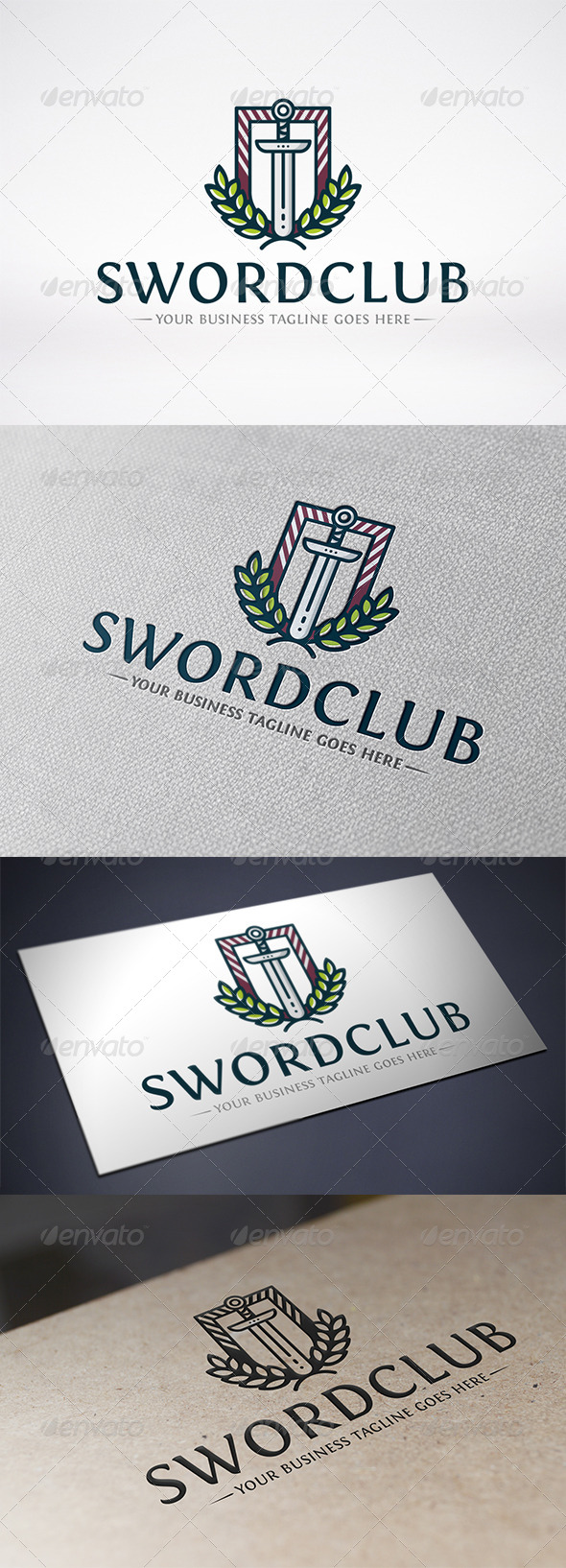 Sword Club Logo Template - Crests Logo Templates