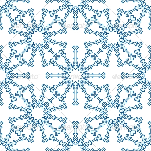 GraphicRiver Snowflakes Seamless Pattern for Winter Design 6420900