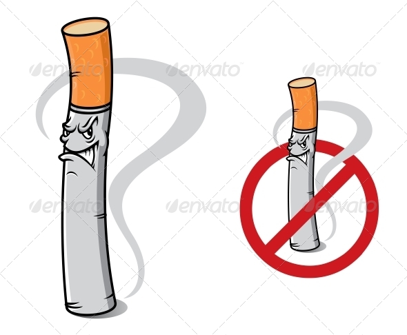 GraphicRiver Sign No Smoking with Danger Cigarette 6420915