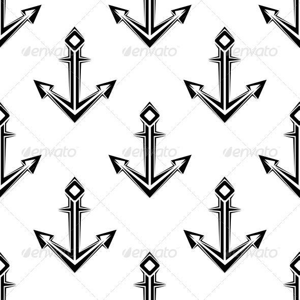 GraphicRiver Sea Anchor Seamless Pattern 6420928