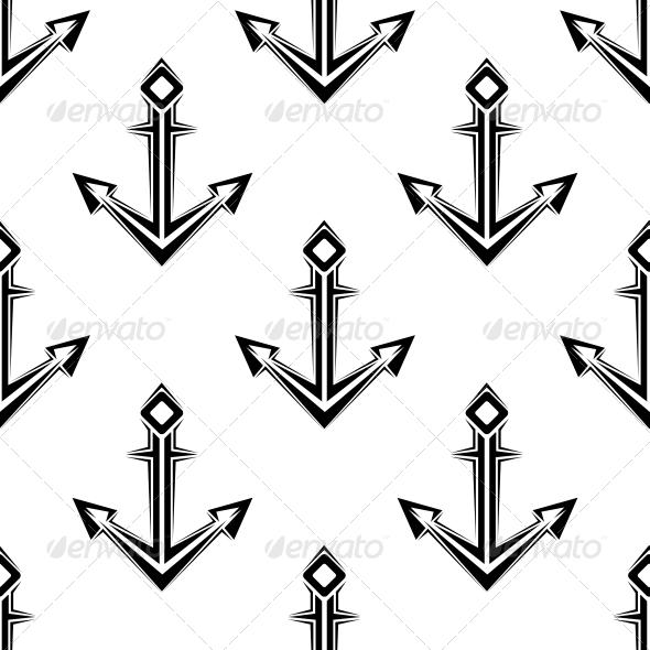 GraphicRiver Sea Anchor Seamless Pattern 6420928