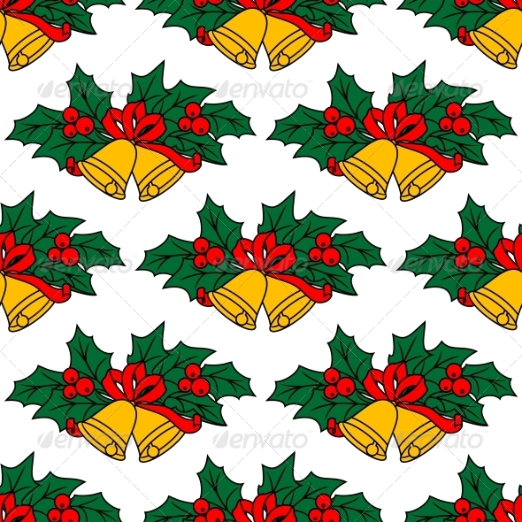 GraphicRiver Seamless Pattern with Christmas Bells 6420929