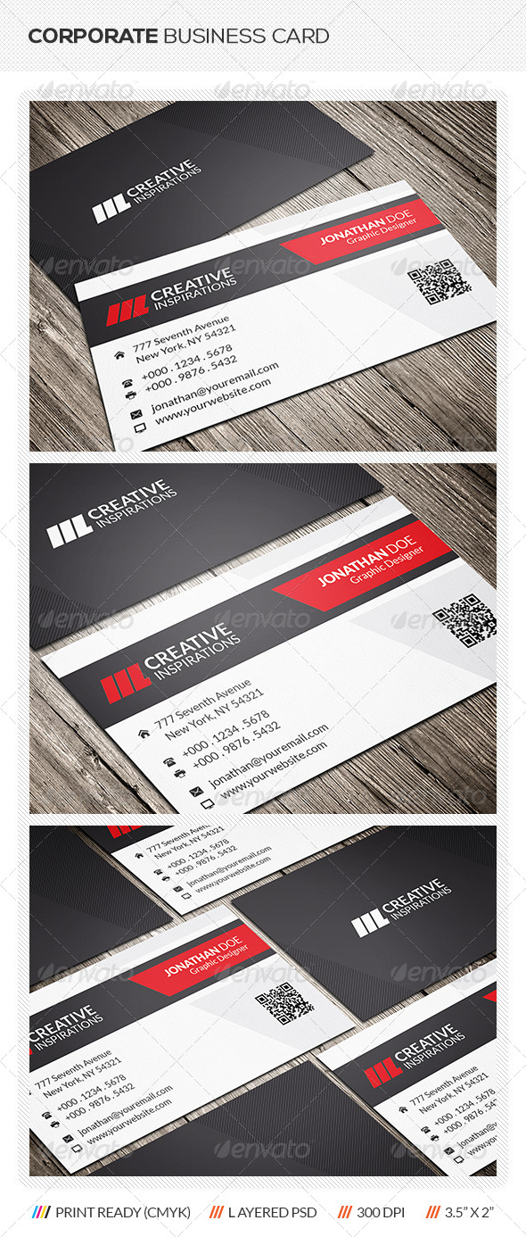GraphicRiver Clean Corporate Business Card 6421069