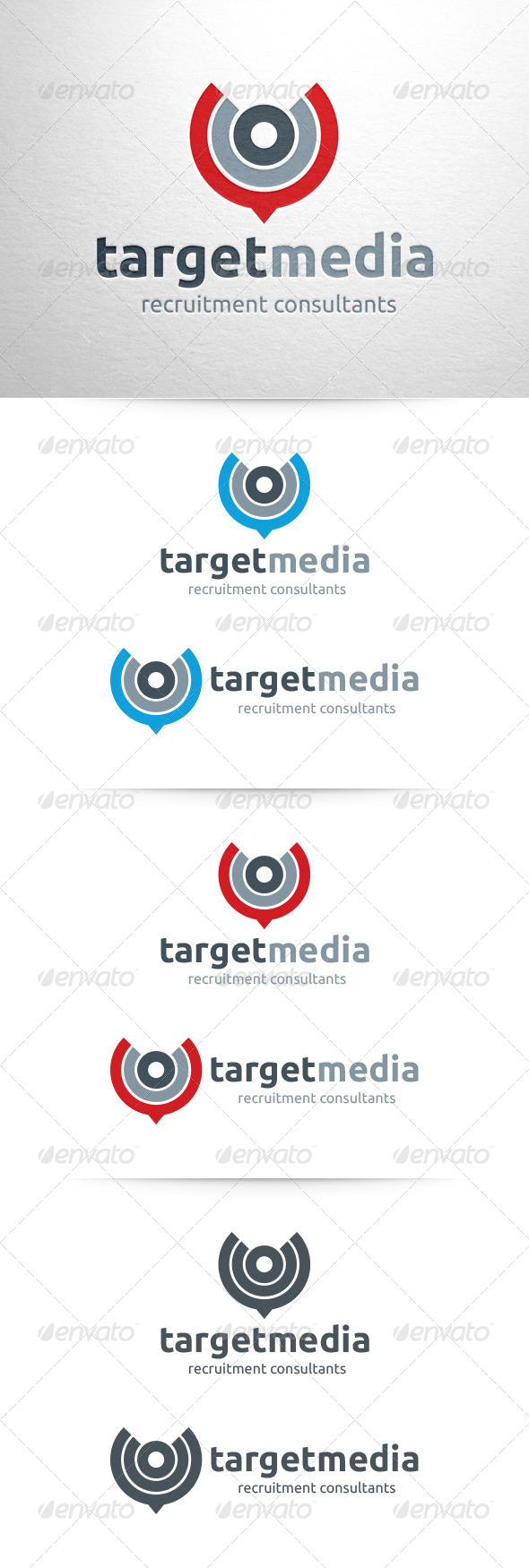GraphicRiver Target Media Logo Template 6421075