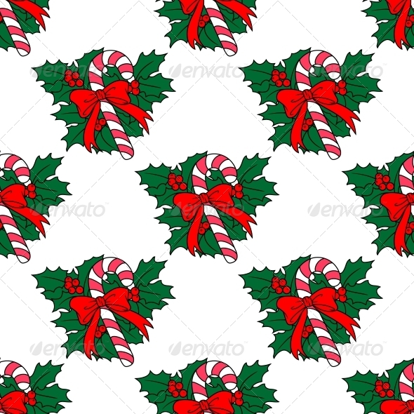 GraphicRiver Christmas Candy Stick Seamless Pattern 6421118