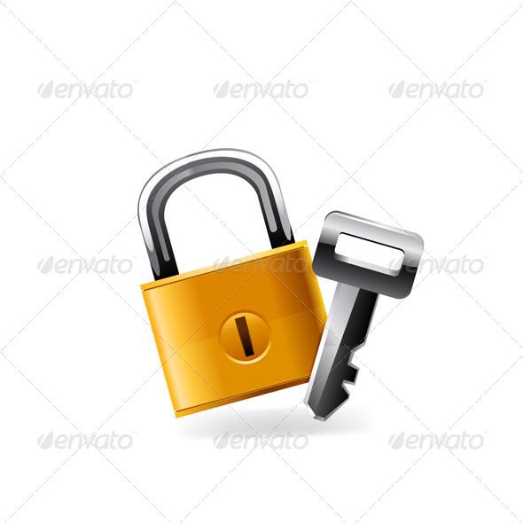 GraphicRiver Web Lock Icon 6421133
