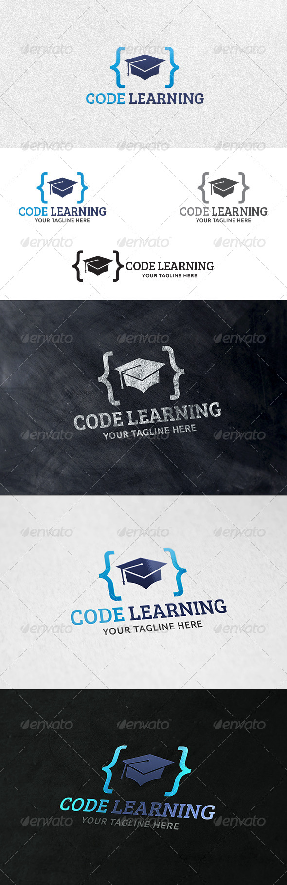 GraphicRiver Code Learning Logo Template 6421134