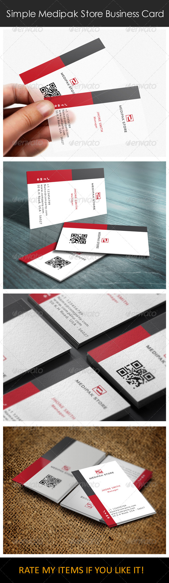 GraphicRiver Simple Medipak Store Logo and Business Card 6421168
