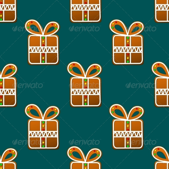 GraphicRiver Gift Gingerbread Seamless Pattern 6421172