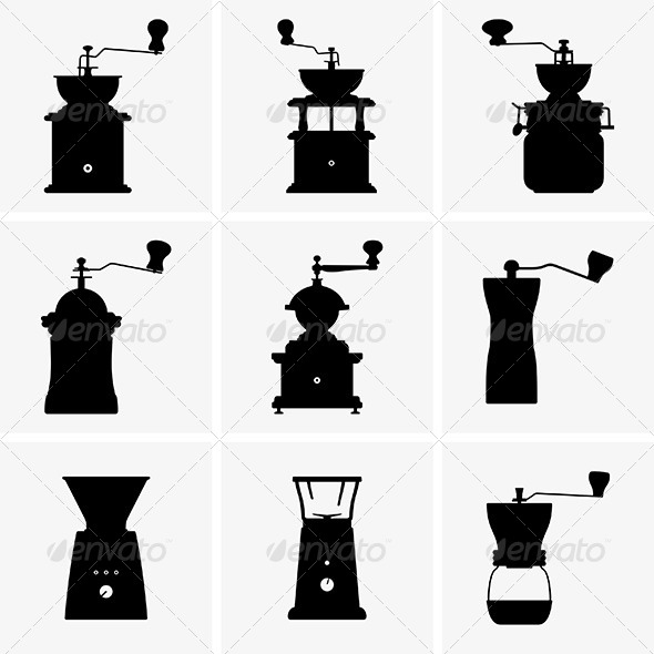 GraphicRiver Coffee Mills 6421308