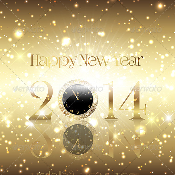 GraphicRiver Golden Happy New Year Background 6421417