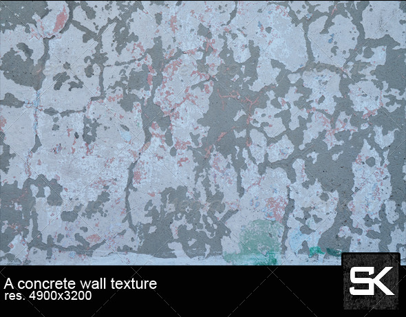 GraphicRiver Old Paint On A Concrete Wall 6421419