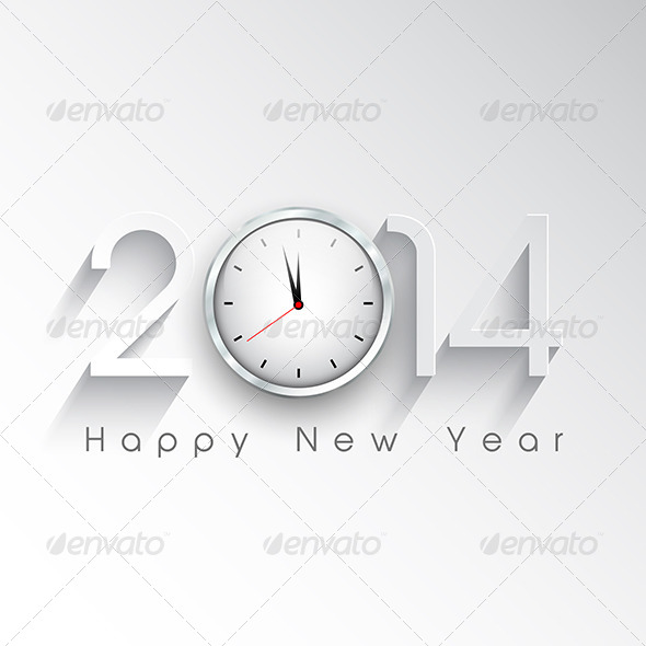 GraphicRiver New Year Clock Background 6421426