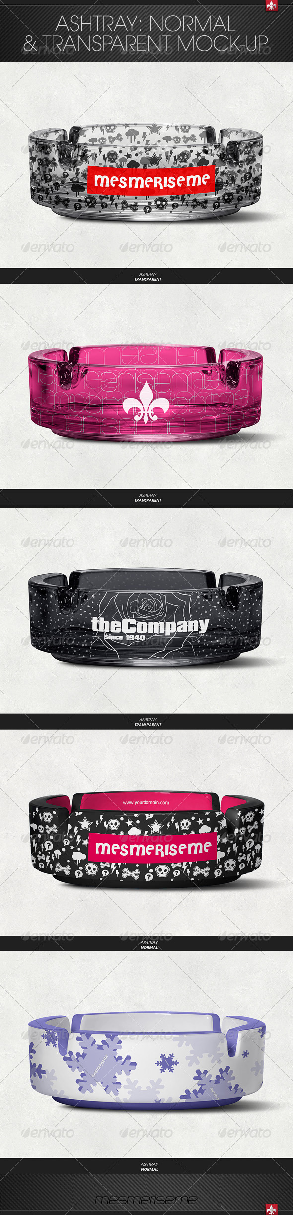 GraphicRiver Ashtray Mock-up 6421541