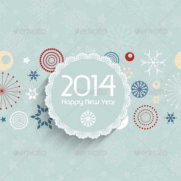 GraphicRiver Retro New Year Background 6421599