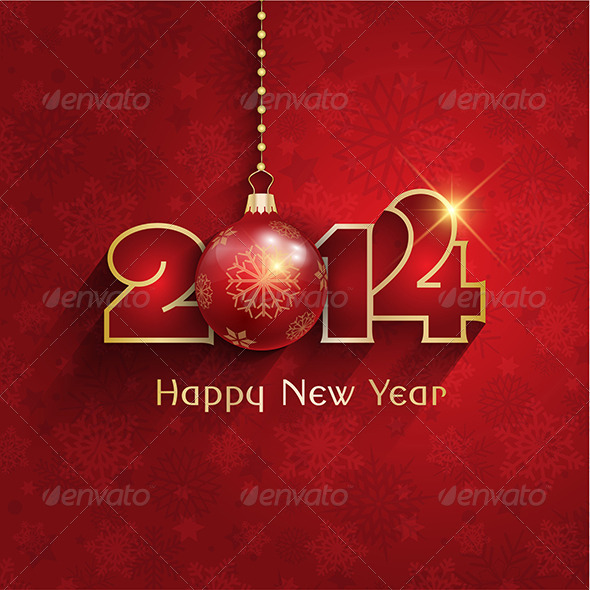 GraphicRiver New Year Bauble Background 6421764