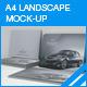 A4 Landscape Brochure Mock-up - GraphicRiver Item for Sale