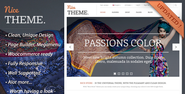 NiceTheme - eCommerce Simple Wordpress Theme