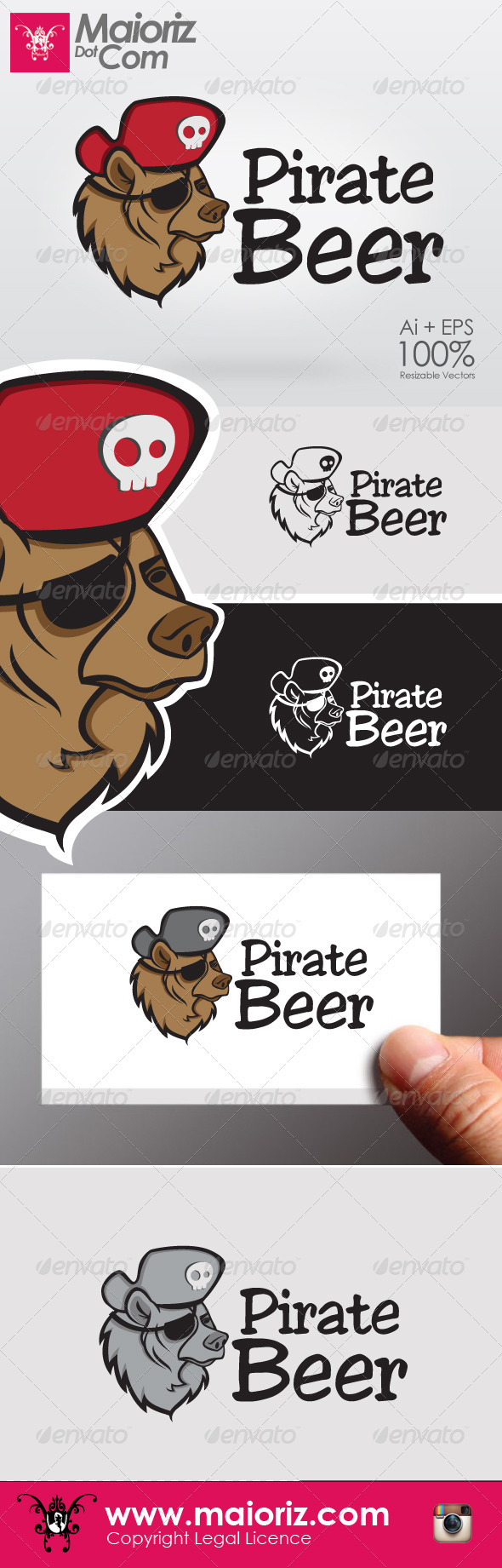GraphicRiver Pirate Beer Logo 6422137