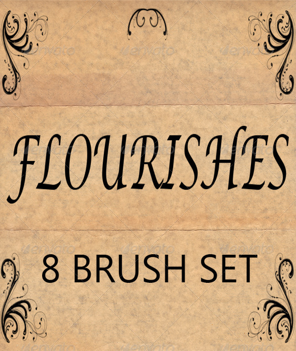 GraphicRiver Flourishes 8 Brush Set for Photoshop 6398714