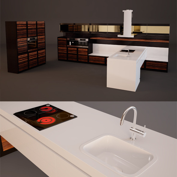 3DOcean Kitchen Set 6422349