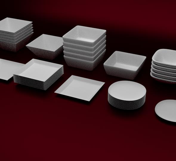 3DOcean Plates Set 6414222