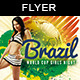 Soccer Brazil 14 Girls Night | Cup Match Flyer - GraphicRiver Item for Sale